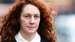 rebekah brooks and piers morgan 'exchanged hacking banter', court hears
